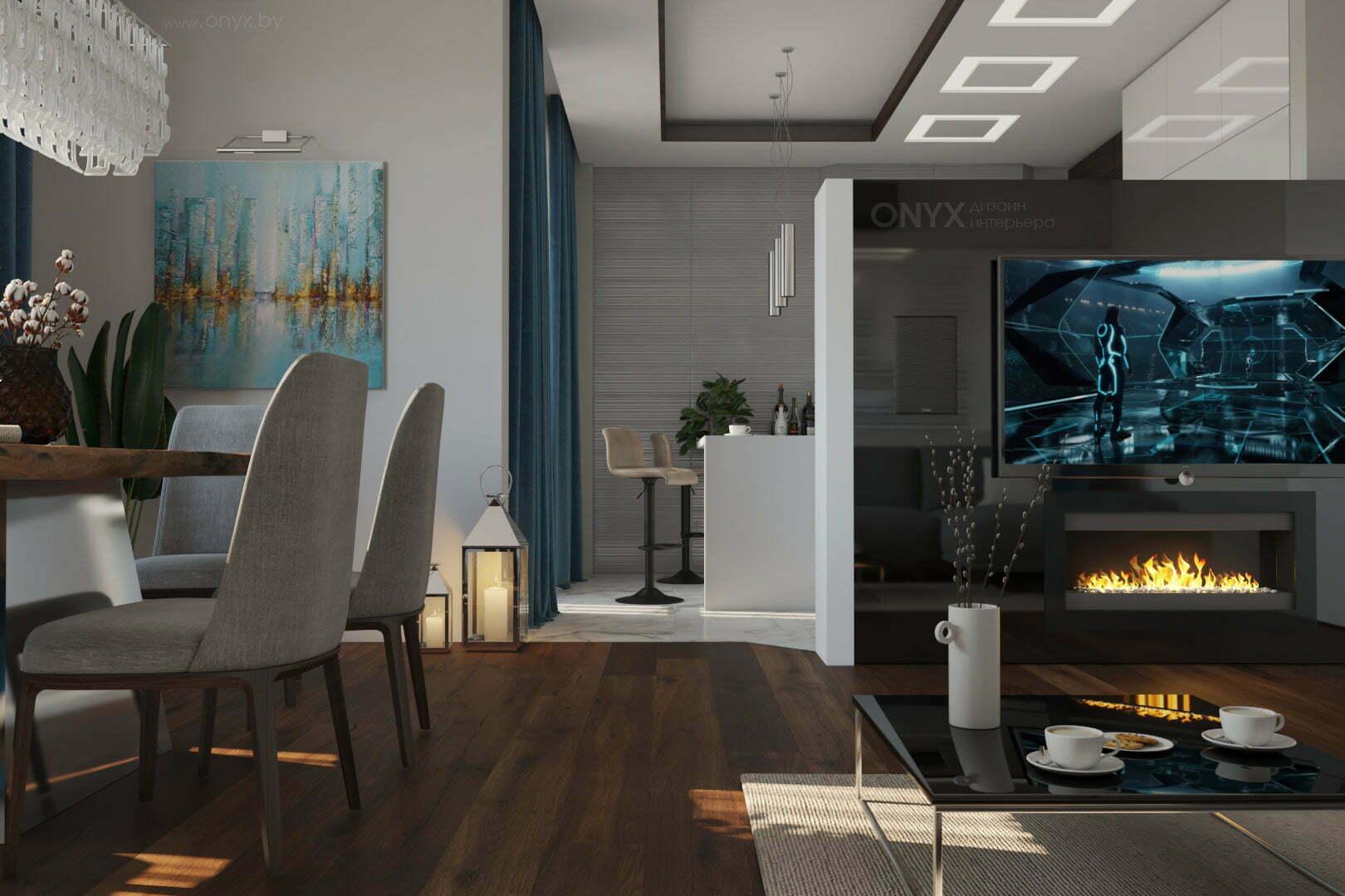 Дизайн-проект квартиры «Синий, которого нет»