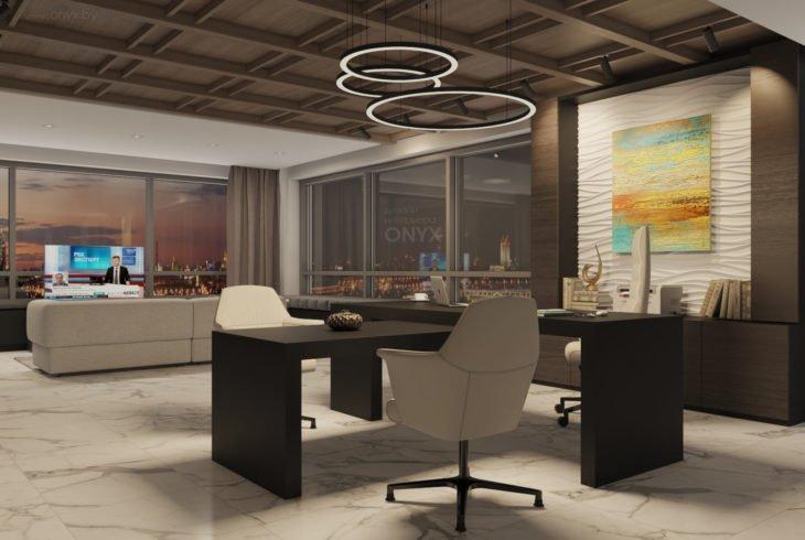 Дизайн кабинета «Черное на белом»