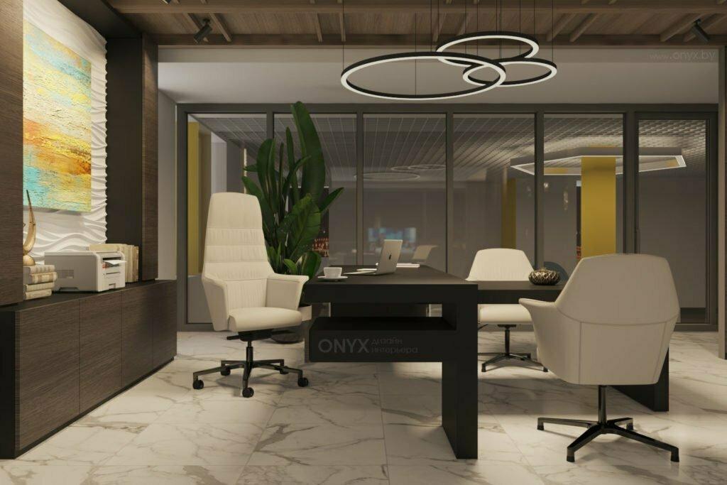 Дизайн интерьера кабинета для руководителя