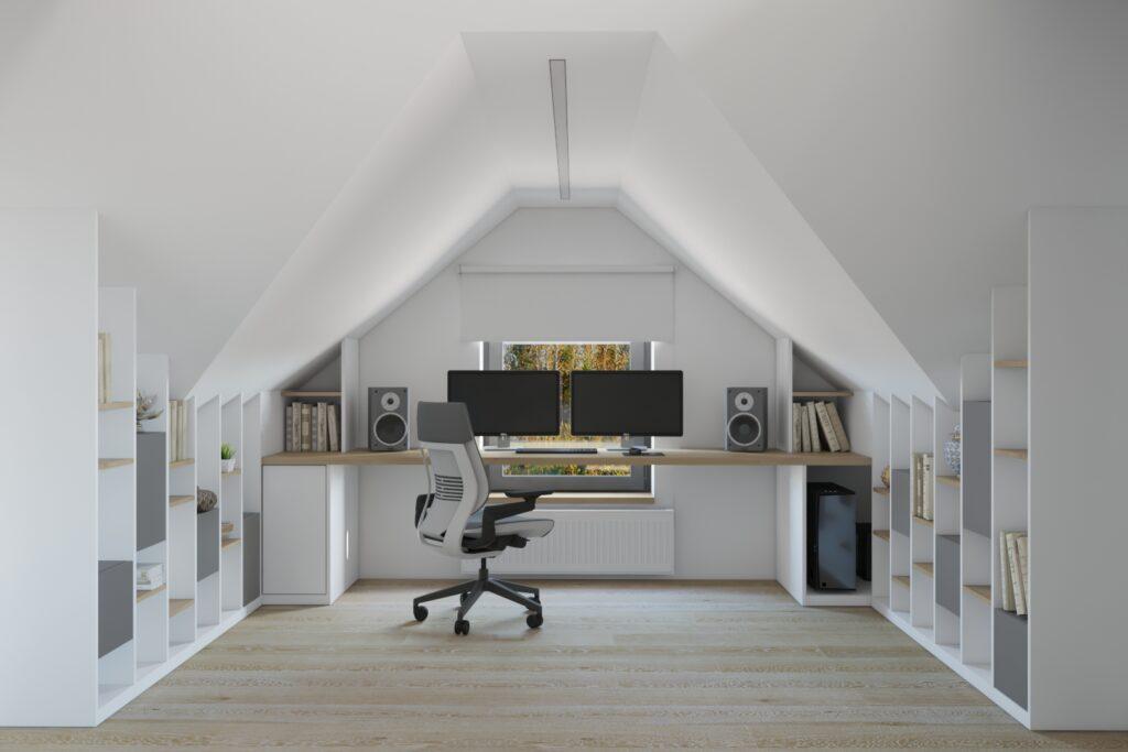 компьютерный стол под окном