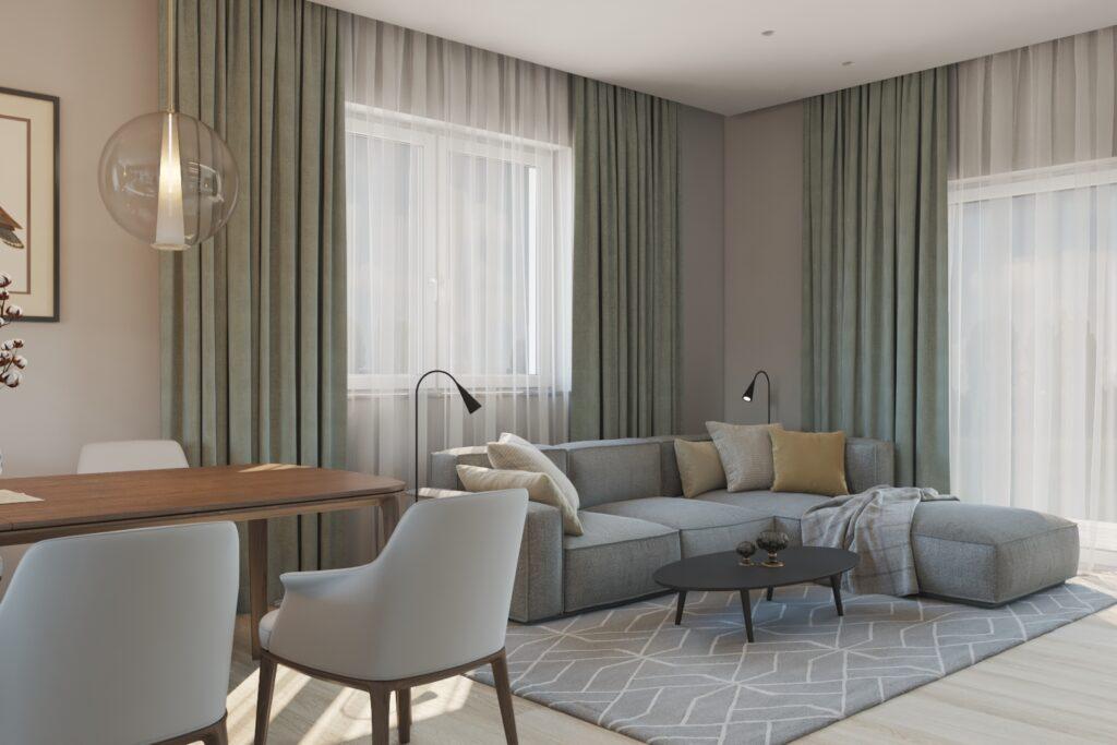 современная гостиная диван